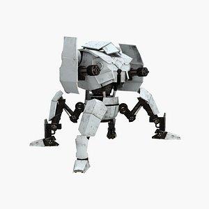 spider robot armored 3D model