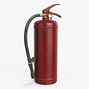 3D model extinguisher dirty b