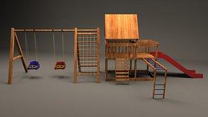 3D playground set