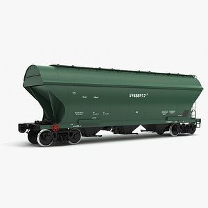 obj hopper cars 19-7016 modeled