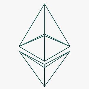 EthereumCurrency outlineLogo 3D