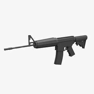 3D firearm gun weapon model