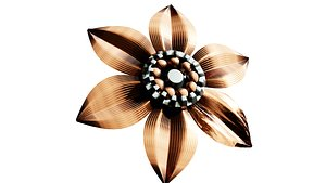 metal flower 3D