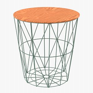 table coffee wireframe model