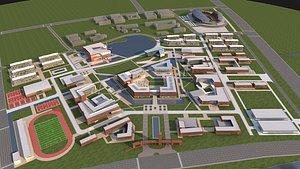 3D School 3 model