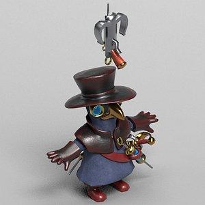 3D plague doctor character