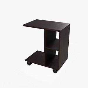 3D model Heather Side Table wenge finish