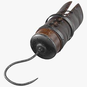 3D Pirate Prosthetic Hook Arm model