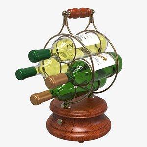 4 Wine Bottle Holder 3D model