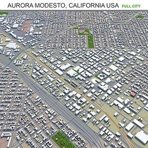 3D Aurora Modesto California USA