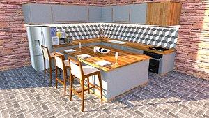 kitchen interior 3D