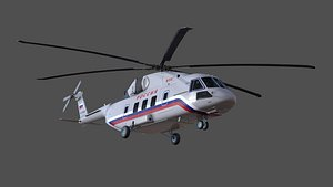 3D Mi-38 helicopter