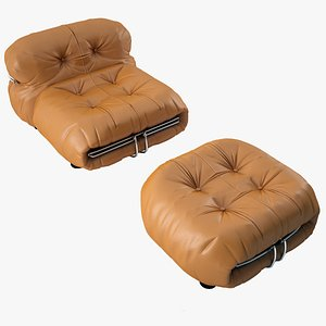 Soriana Lounge Chair 3D