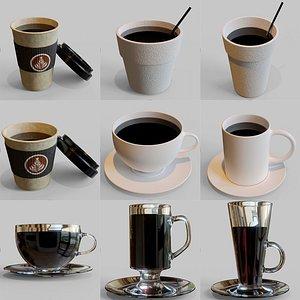 coffee collecion cup 3D model