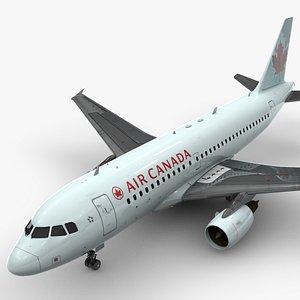 Airbus A319-100 AIR CANADA L1383 3D