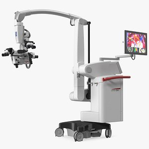 Precision Surgical Microscope Leica M530 OHX Rigged 3D model
