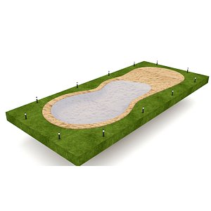 The natural beach pool 3D model