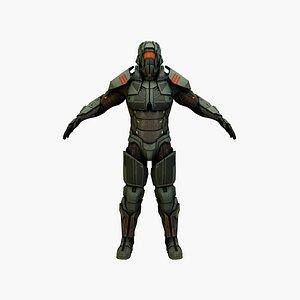 cyber soldierv3 3D model
