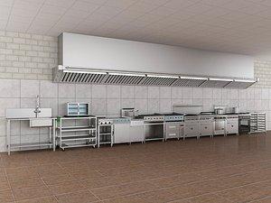 3D Commercial Kitchen 5