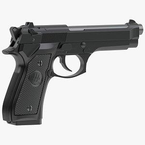 semi-automatic pistol automatically 3D model