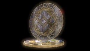 Binance coins BNB 3D model