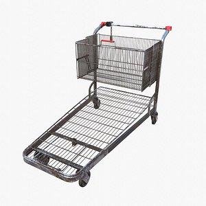 3D model shopping car cart