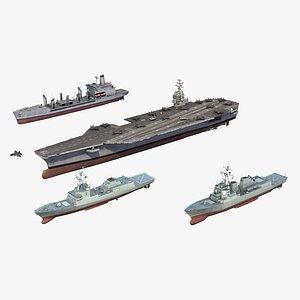 US Navy Carrier Strike Group 3D model