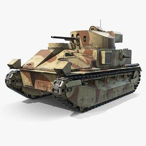 Vickers Medium Mk II 3D model