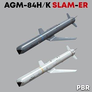 3D AGM-84H-K SLAM-ER