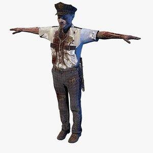 zombie black police model