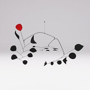 Alexander Calder Rouge Triomphant 3D