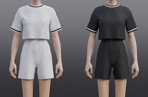 3D Sport Set T-Shirt and Shorts Tracksuit - 2 Piece Outfit model