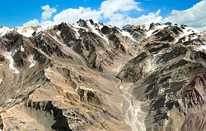 3D Mountain landscape Parque Andino Juncal Chilli