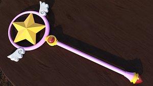3D Cardcaptor Sakura Sealing Wand Star Form