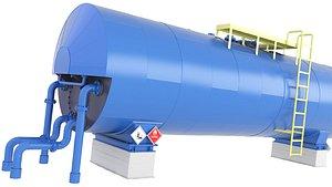 3D tank oil storage
