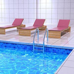 3D model Indoor Swimming Pool Complex