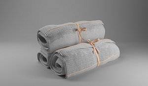 3D Rolled up towels