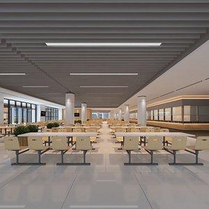 canteen cafeteria concept 3D