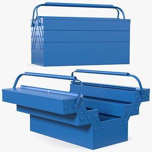 3D steel toolbox 5 compartments