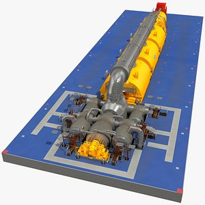 Siemens Steam Turbine Generator 3D model