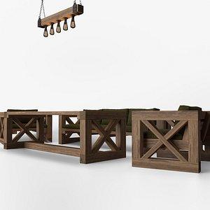 patio set candelier 3D model