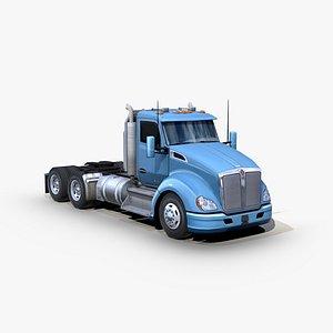 t680 semi truck 3D