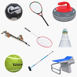 3D Sports Equipment model