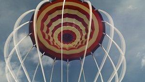 3D parachute simulation