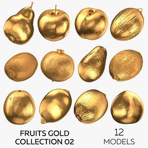 Fruits Gold Collection 02 - 12 models 3D model