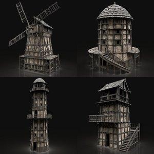 3D tower watchtower