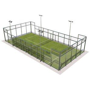 3D Padel Court MAX TS model