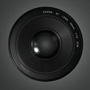 canon lens 50mm 3D model