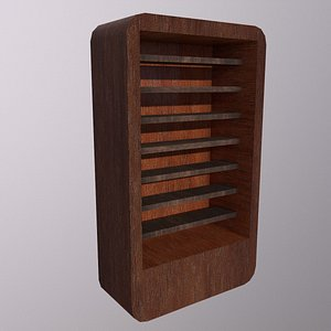 3D Cabinet Game Ready Low-Poly Low-poly 3D model