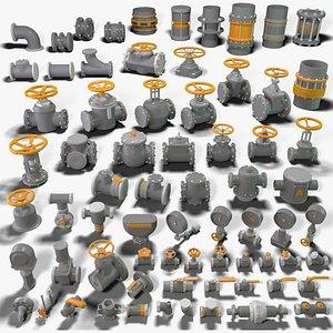Industrial Kitbash 4 - 70 pieces 3D model